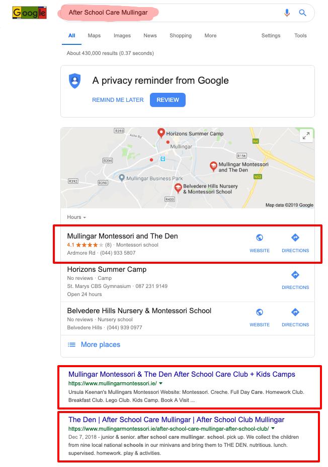 after school care mullingar google search