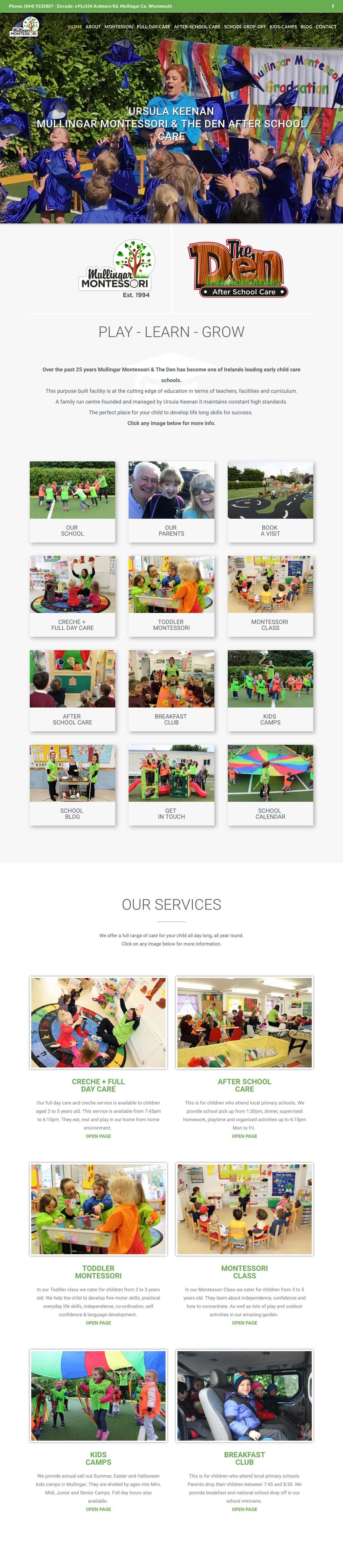 homepage school website a