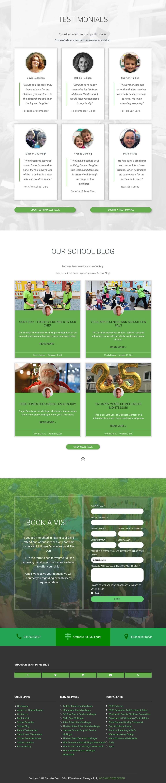 homepage school website b