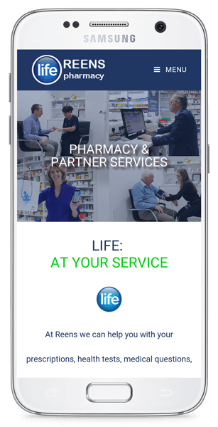 mobile responsive website life pharmacy all services.png