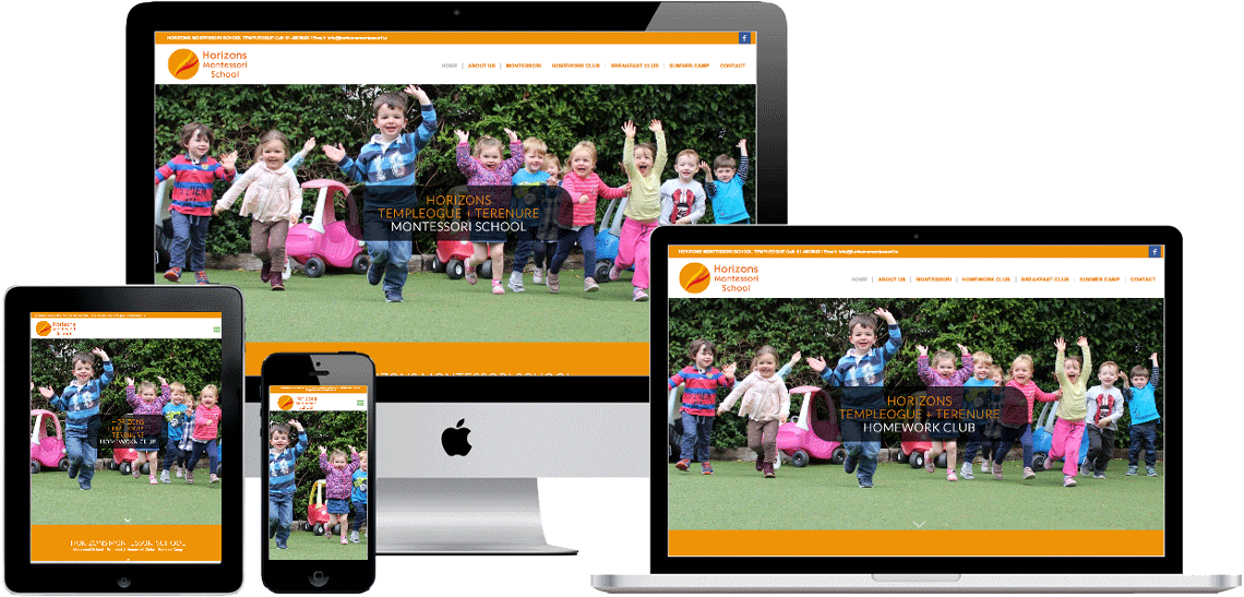 montessori school website on devices