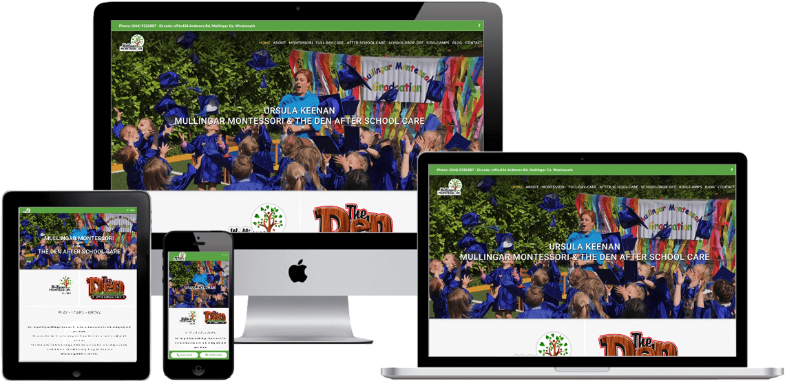 montessori websites responsive