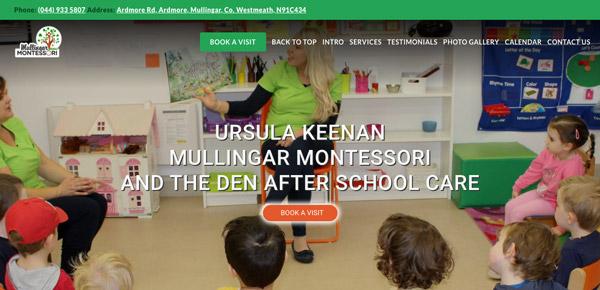 school demo one page header