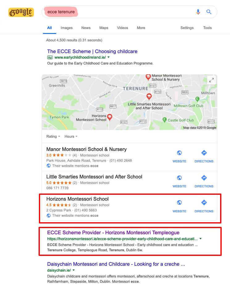 ecce terenure google search